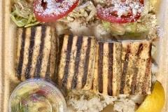 Mojo Tofu a la Plancha & Pineapple Salsa