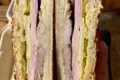 Cuban Sandwich on Homemade Bread