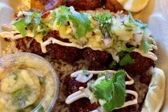 Salmon Croquetas with Pineapple Salsa and Chipotle Crema